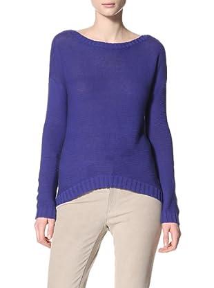 Acrobat Women's Mix Stitch Boat Neck Sweater (Cobalt)