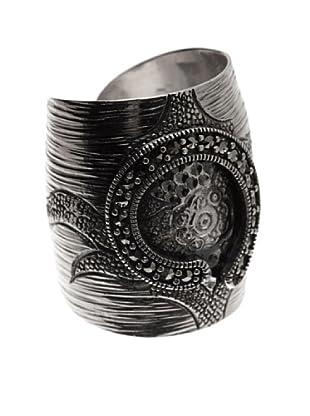 Silver One Anillo Ajustable Gran Sello Marquesita