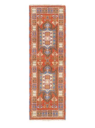 Hand-Knotted Royal Kazak Wool Rug, Copper, 2' 1