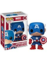 Captain America: ~3.75 Funko POP! Marvel Universe Vinyl Bobble-Head Figure