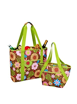 Picnic at Ascot Large & Small Insulated Cooler Tote Set (Floral)
