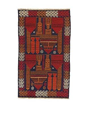 L'Eden del Tappeto Teppich Beluchistan braun/dunkelblau 139t x t83 cm
