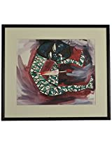 Liflad Artmart Acrylic and Paper Abstract Painting (38 cm x 38 cm, LA33)