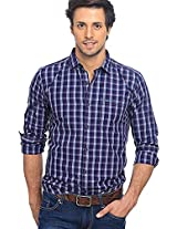 Checks Purple Casual Shirt Basics