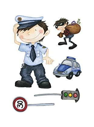 Beiwanda Kids Wandtattoo Polizei Set