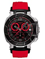 Tissot Men's T048.417.27.057.02 T-Race Quartz Red Strap Chronograph Dial Watch