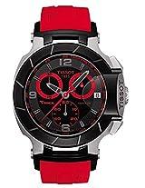 Tissot Men's T048.417.27.057.02 T-Race Quartz Red Strap Chronograph Dial Watch