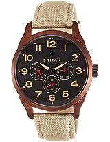 Titan Purple Multi-Function Chronograph Black Dial Men's Watch - 9479AF03J