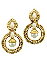 Ethnic Indian Bollywood Jewelry Set Traditional Fashion Imitation EarringsCHEA0214WH