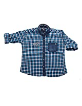 LITTLE MAN Cotton Boy's Shirt (LM11C1_8 , Blue, 8)