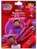 Disney Dora On 2 Fuschia Glitter Stars