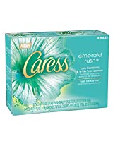 Caress Beauty Bar, Emerald Rush Lush Gardenia & White Tea Essence 4 oz, 8-Bar