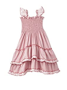 4EverPrincess Girl's Angel Dress (Red/White)