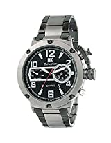Iik Collection Analogue Black Dial Men's Watch-Iik043M