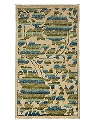 Darya Rugs Arts & Crafts Handmade Rug, Ivory, 3' 2