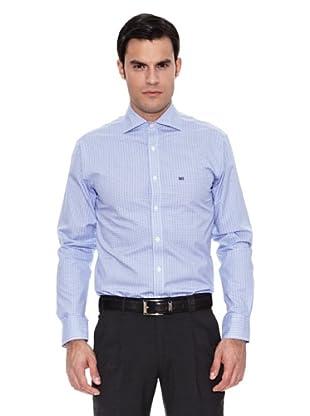 Pedro del Hierro Camisa Non Iron Cuadro (Azul Marino)