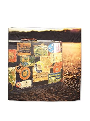CHIC Women's Vintage Trunks Digital Square Silk Scarf, Multi, One Size