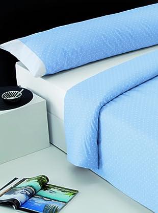 I- Home Juego Funda Nórdica Topos (Azul)