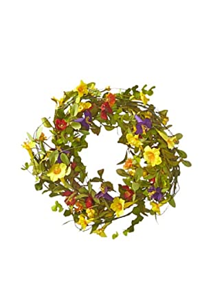 Melrose International Summer Wildflower Wreath