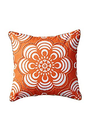 Happy Chic by Jonathan Adler Holly Flower Pillow, Orange/White