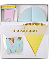 Meri Meri 45 1783 Ice Cream Garland Novelty