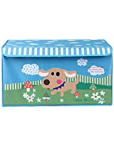 UberLyfe Blue House Shaped Storage Bin with Friendly Dog for Kids - Large