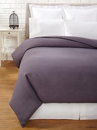 Mélange Home Linen Hemstitch Duvet Cover Set (Charcoal)