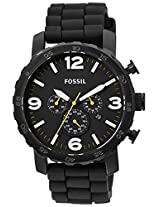 Fossil Nate Analog Black Dial Men's Watch - JR1425I