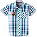 Gini & Jony Boys' Shirt (121011289653 1250_Phat Green_7 - 8 years)