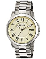 Fossil Analog Beige Dial Men's Watch - FS4909I