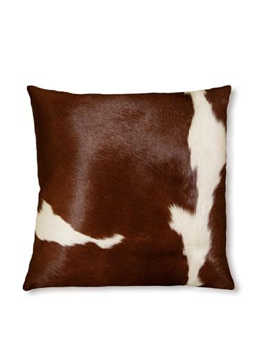 Natural Torino Cowhide Pillow (Brown & White)