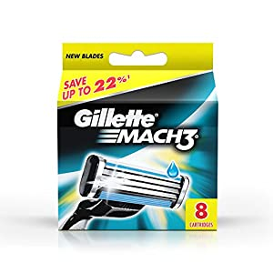 Gillette Mach 3 Manual Shaving Razor Blades (Cartridge) - 8s Pack