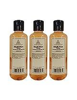 Khadi Pure Herbal Sandalwood Massage Oil - 210ml (Set of 3)