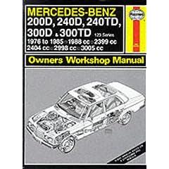 【クリックで詳細表示】Mercedes-Benz 200D, 240D, 240TD, 300D and 300TD (123 Series) 1976-85 Owner's Workshop Manual (Service & repair manuals) [ハードカバー]