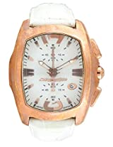 Chronotech White Leather Men Analog Watch CT7895M10