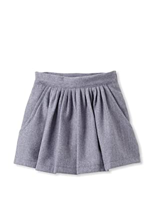 Elephantito Girl's 2-8 Tweed Skirt (Gray-Lilac)