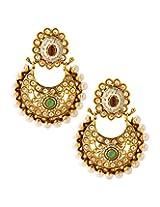 Voylla Metal Dangle & Drop Earrings for Women (Gold)