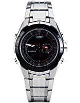Edifice Ed240-Efa-119Bk-1Avdf Silver/Black Analog & Digital Watch