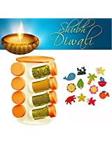Revolving Spice Jar - Diwali Special Gift. Get a set of 12 Fridge Magnets FREE!!!