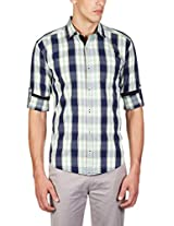 GHPC Men's 100% Cotton Casual Shirt(CS62743_40_Green)