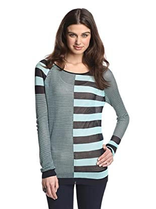 525 America Women's Mixed Media Stripe (Audrey Blue Combo)