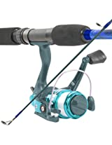 South Bend Worm Gear Fishing Rod and Spinning Reel Combo, Blue