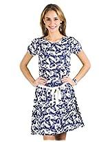Trend Arrest Butterfly Print Evening Dress - S