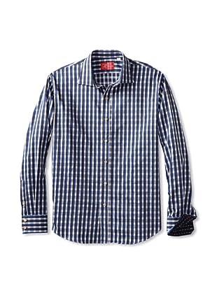 Rufus Men's Button-Up Shirt (Puple Plaid)