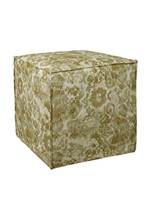 Skyline Square Ottoman with French Seams