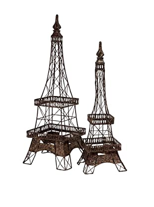 Voyager Set of 2 Eiffel Tower Accents Statues