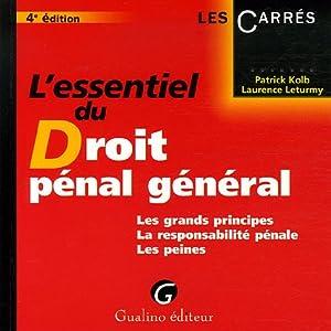 Essentiel du droit penal general 4e ed. (l')