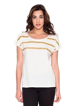 Pedro del Hierro Camiseta Rayas (Blanco)