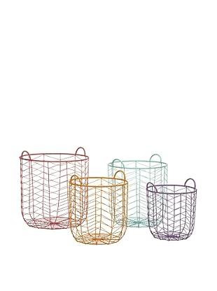 Set of 4 Assorted Maya Metal Baskets
