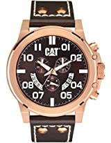 Caterpillar Analogue Brown Dial Men's Wristwatch PS.193.35.939